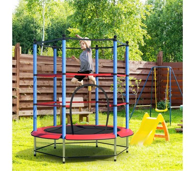 Costway Round Trampoline 55'' Exercise with Safety Pad Enclosure Was: $299.99 Now: $99.99.