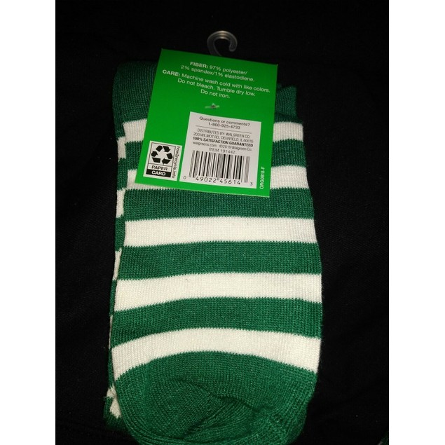 Luck To You Polyester Knee High Socks, 4-10, Lime Green Shamrocks, 1 Pair