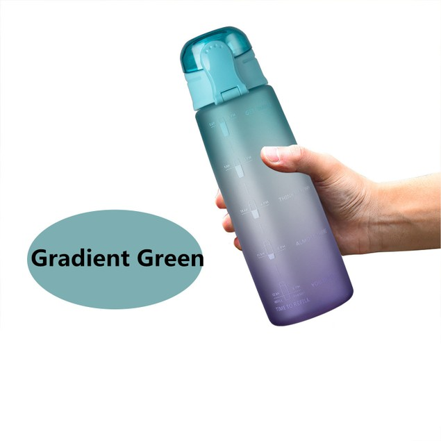 Gradient Color Large-capacity Portable Outdoor Sports Water Cup With Handle