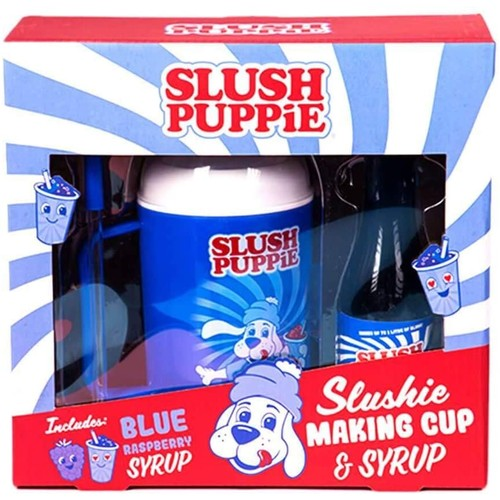 Slush Puppie Making Cup And Blue Raspberry Syrup Set