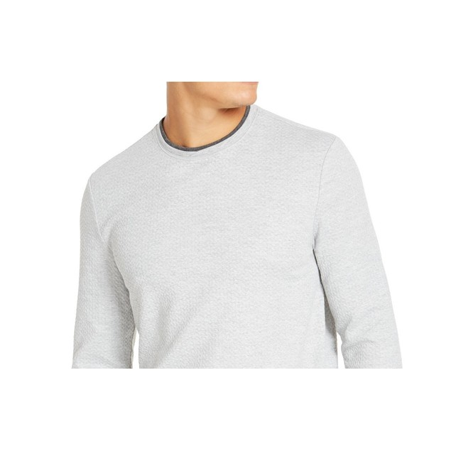 Tasso Elba Men's Crossover Sweater  Gray Size XX-Large