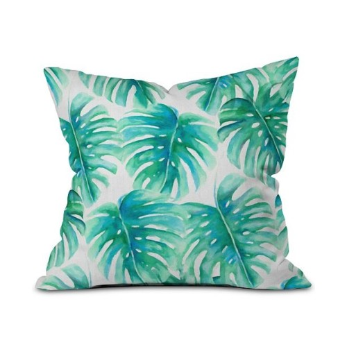"Deny Designs Paradise Palms Polyester Throw Pillow, Dimensions: 16 x 16"","