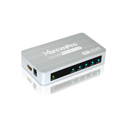 XTREMPRO 61084 HM-SP104 APT 1X4 HDMI 2.0  SPLITTER