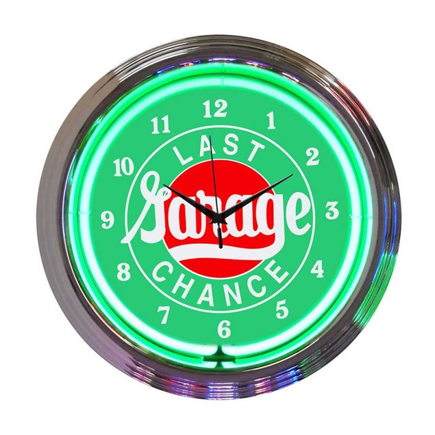 Neonetics Mopar Checkered Flag Neon Clock