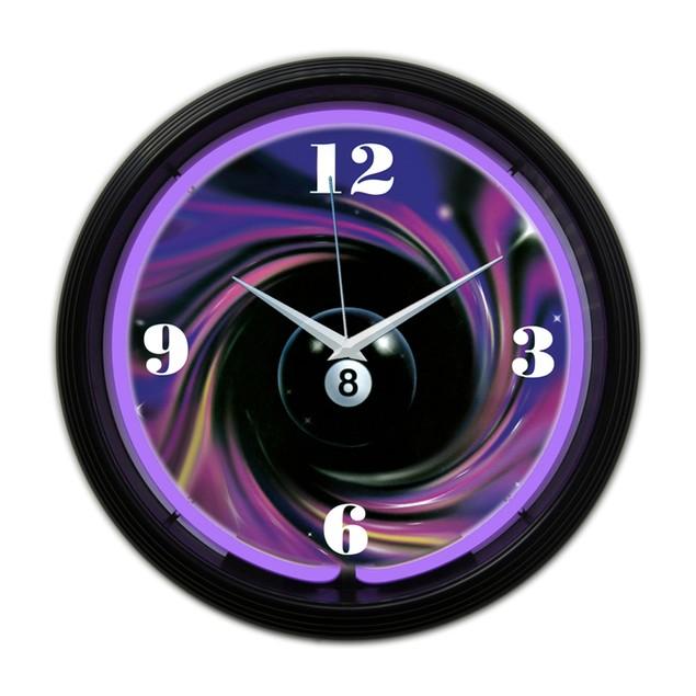 Neonetics 9 Ball Fire Neon Clock