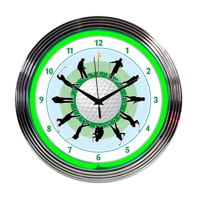 Neonetics Irish Erin Go Bragh Neon Clock