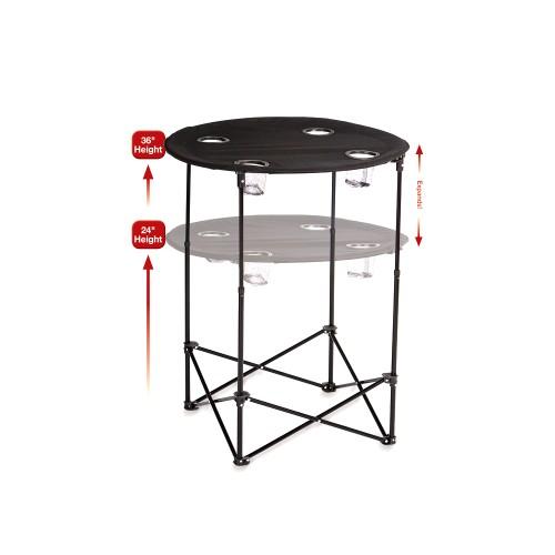Picnic Plus  Scrimmage Tailgate Table Black