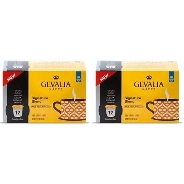 Gevalia Kaffe Signature Blend K Cup Keurig 2 Box Pack