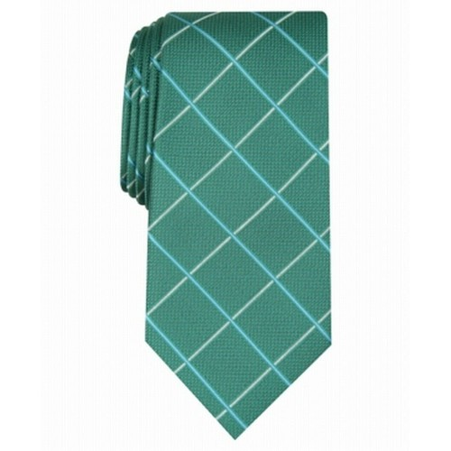 Club Room Men's Canton Grid Tie Green Size Regular