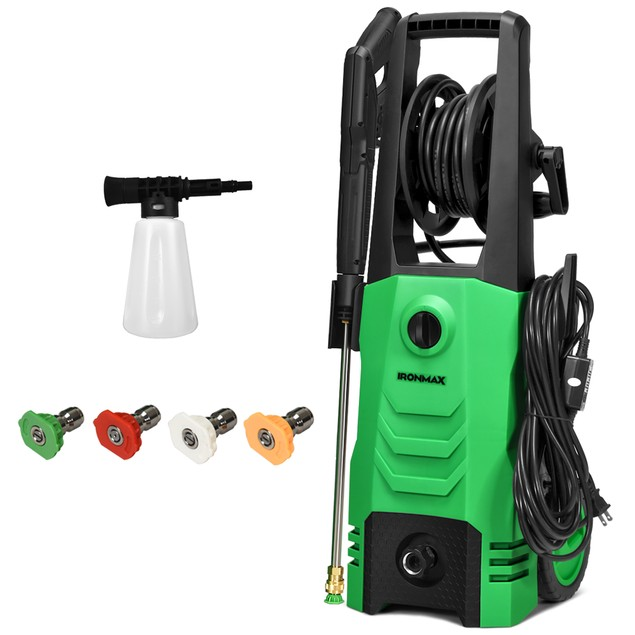 IronMax 3500PSI Electric Pressure Washer w/ 4 Nozzles & Foam