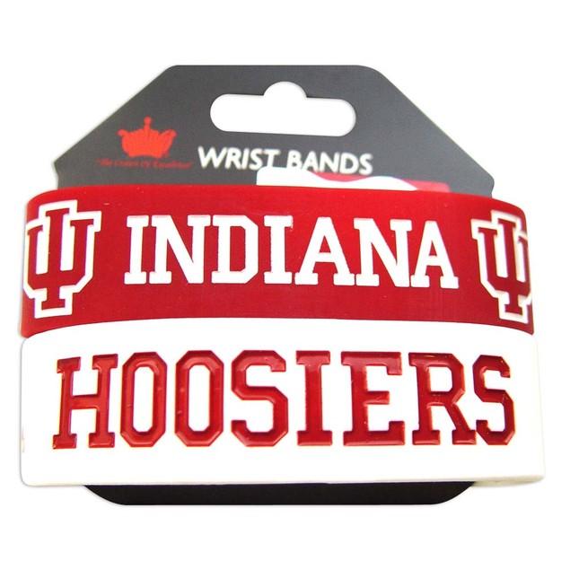 Indiana Hoosiers Rubber Wrist Band (Set of 2) NCAA