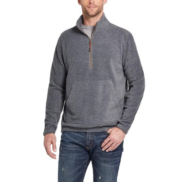 Weatherproof Vintage Men's Quarter-Zip Pullover Sweater Gray Size Large