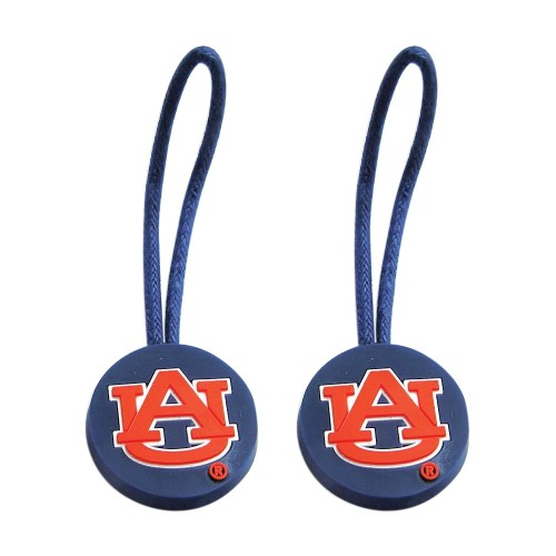 NCAA Zipper Pull Pet id Luggage Bag Tag Auburn Tigers 2 Pack