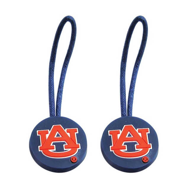 NCAA Zipper Pull Pet id Luggage Bag Tag Auburn Tigers 2 Pack