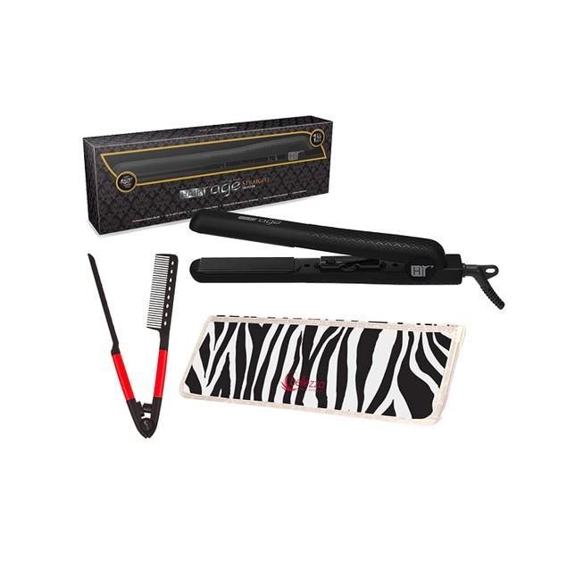 "Hair Rage Straight Collection 1.25"" Ceramic Hair Flat Iron|Heat Mat Bundle"