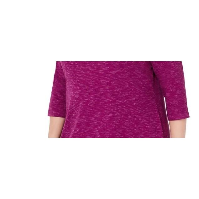 Karen Scott Women's Sport Space-Dye Microfleece Top Med Purple Size Large
