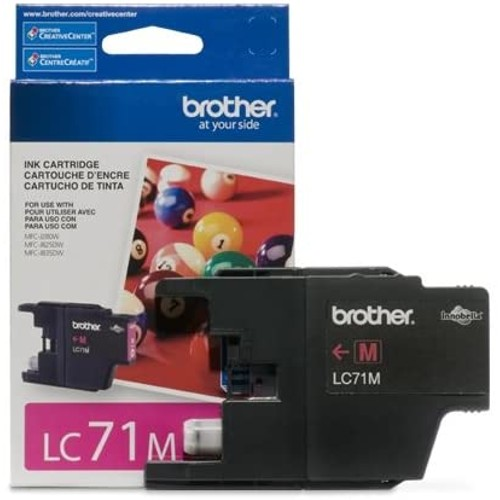Brothers Brother LC71M OEM Ink Cartridge: Magenta Yields 300 Pages