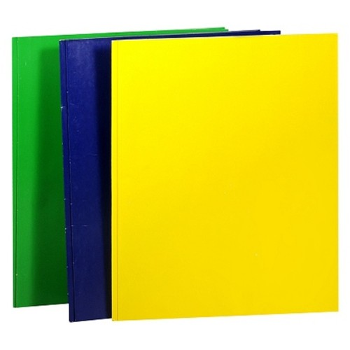 Penway Two Pocket Folder w/ Prongs, Set of 3, Assorted Colors