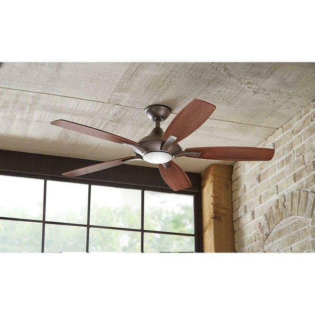 Home Decorators 52 Inch Integrated LED Indoor Ceiling Fan with Light,