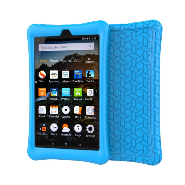 SILICONE PROTECTIVE CASE FOR FIRE HD 8 BLUE