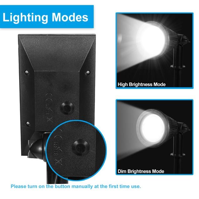 Solar Powered Spotlight Outdoor Dusk To Dawn Light