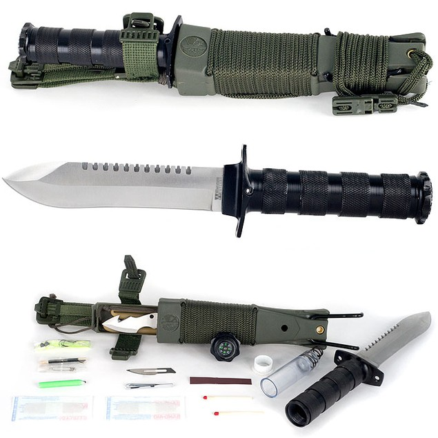 Whetstone Anchored Eagle Survival Knife with Sheath