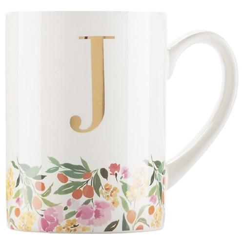 C.R. Gibson Dishwasher Safe Ultimately Stylish Delightfully Monogram Mug