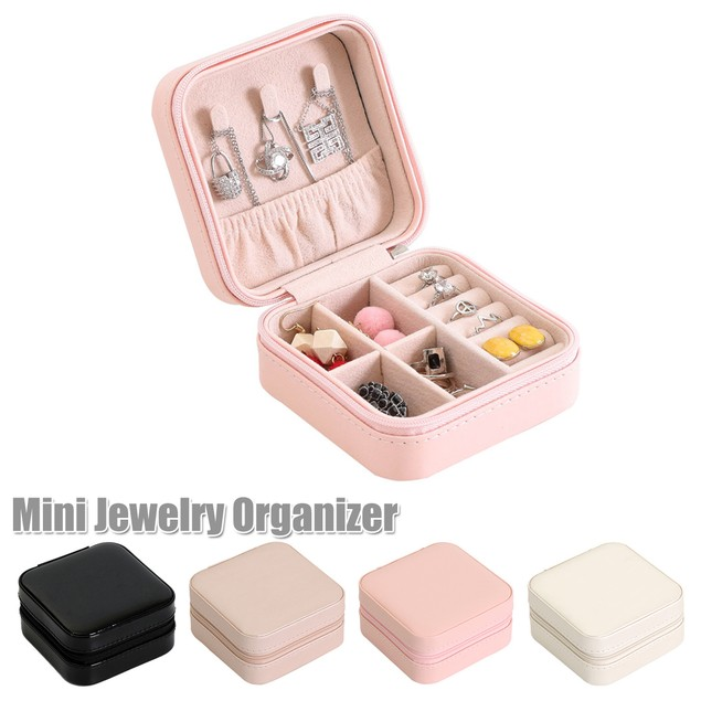 Portable Jewelry Box Necklace Storage Case
