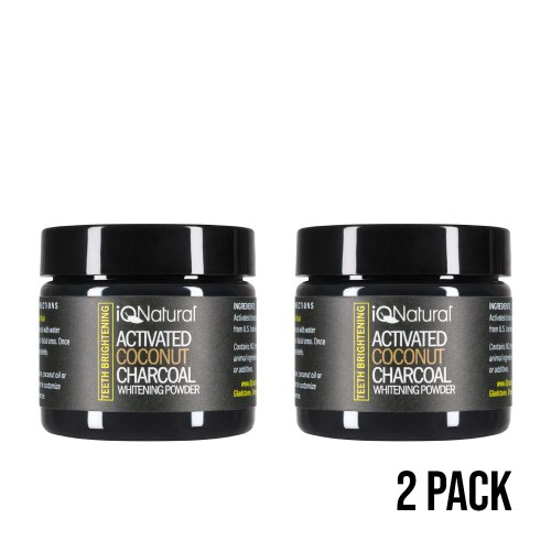 2-Pack Teeth Whitening Activated Charcoal Powder