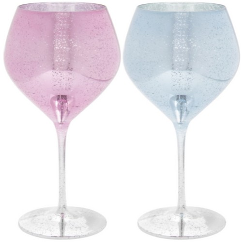 Glitter Gin Glass Set Of 2 By Lesser and Pavey