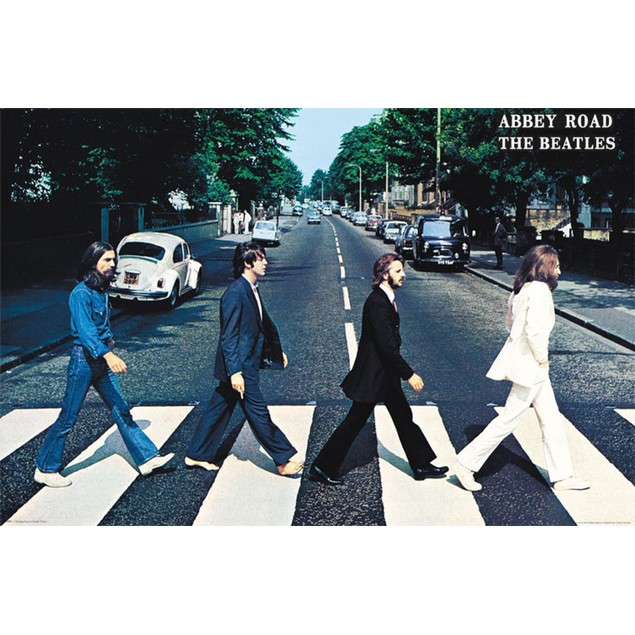 The Beatles Abbey Road Wall Poster Walking Crossing Road Abby Music England