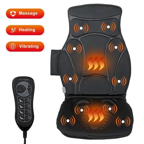 Costway Vibration Massage Seat Cushion Car 10 Vibration Motors Seat Back Ma