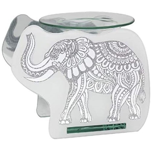 Glass Elephant Wax Oil Warmer By Lesser and Pavey