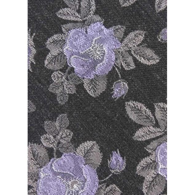 Bar III Men's Fairmont Skinny Floral Tie Black Size Regular