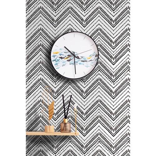 "96022-1 Modern Circle Oval Stripe Peel and Stick Wallpaper 17.7""x 19.7ft"