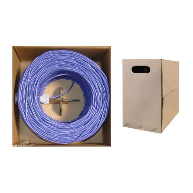 Bulk Cat5e Purple Ethernet Cable, 1000 foot