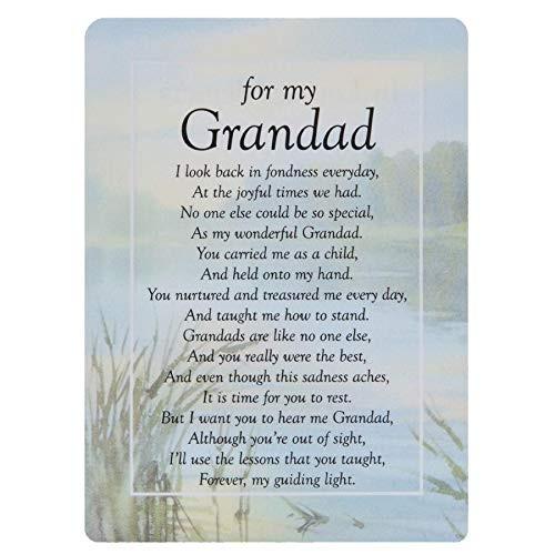 Graveside Memorial Cards - For My Grandad