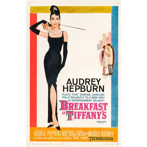 Breakfast at Tiffany's Audrey Hepburn Poster 36 x 24 Movie Actor