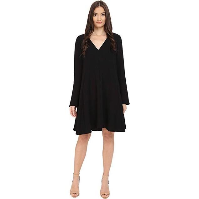 See by Chloe Women's Fluid Textured Jacquard Dress Black 34 (US 00
