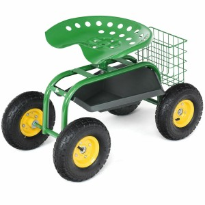 Costway Gardening & Outdoor Work Seat Cart