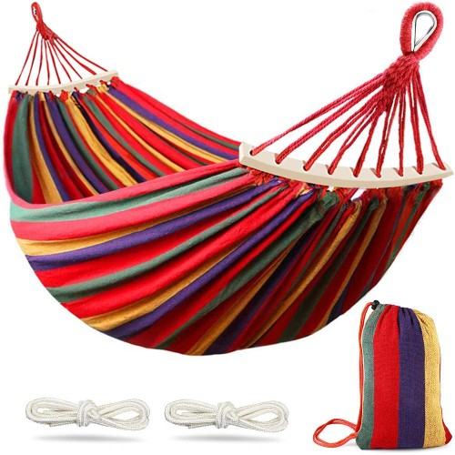 2 Pack: 2 Person Portable Hammock with Carrying Bag