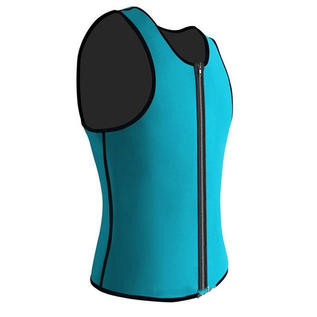 Zipper Type Men's Sports Wicking Vest