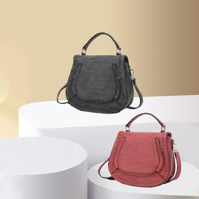 MKF Collection Bologna Saddle Bag by Mia K