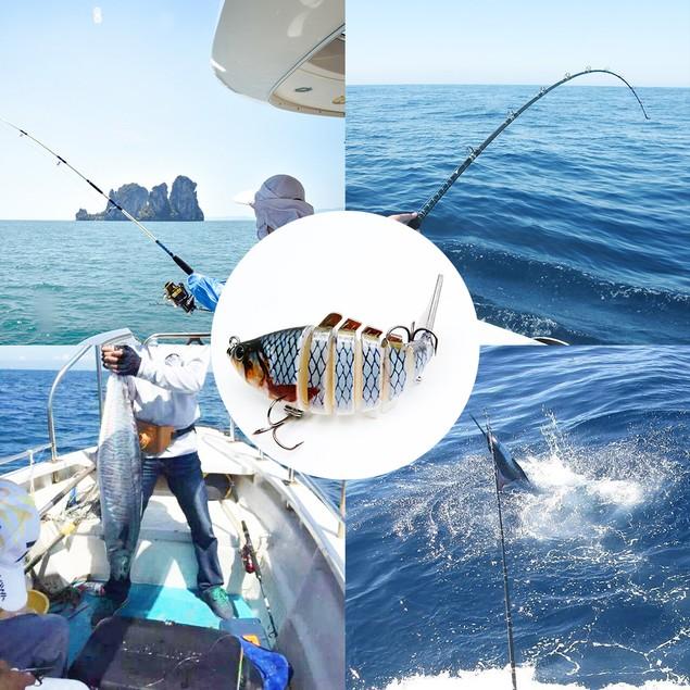 Bass Fishing Lures Multi Jointed Swimbaits Lifelike Bionic Bait 5 Color