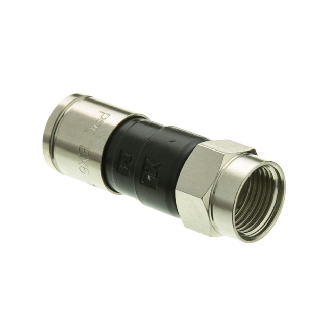 RG6 F-pin Compression Connector, Quad and Dual Shield Compatible