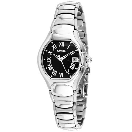 Jovial Women's Classic Black Dial Watch - 08031-LSM-04