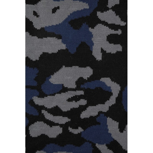 Steve Madden Men's Camo Scarf Blue One Size