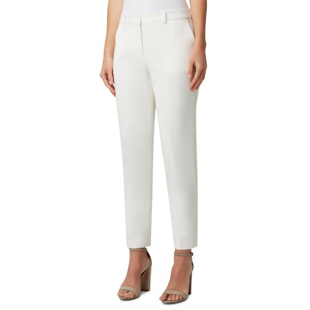 Tahari Asl Women's Straight-Leg Dress Pants White Size 18