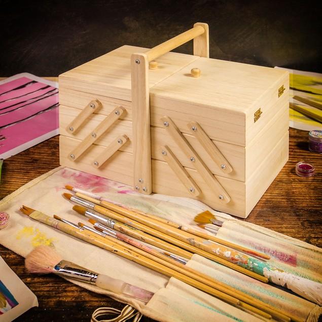 3 Tier Wooden Craft Box   Pukkr