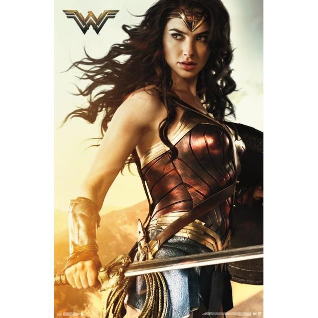 Wonder Woman Shield Wall Poster